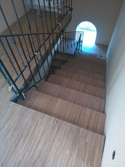 Промышленный паркет 16х8х160 дуб Натур облицовка лестниц