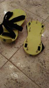 Игольчатые ботинки - для хотьбы по свеже залитым стяжкам и нивелиркам